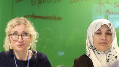 representant fra USN og Gaza. Foto