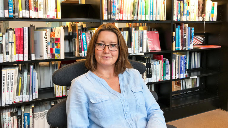 Karriereveileder Anne Holm-Nordhagen gir gode råd om utdanningsvalg og karrierevalg. Foto av henne
