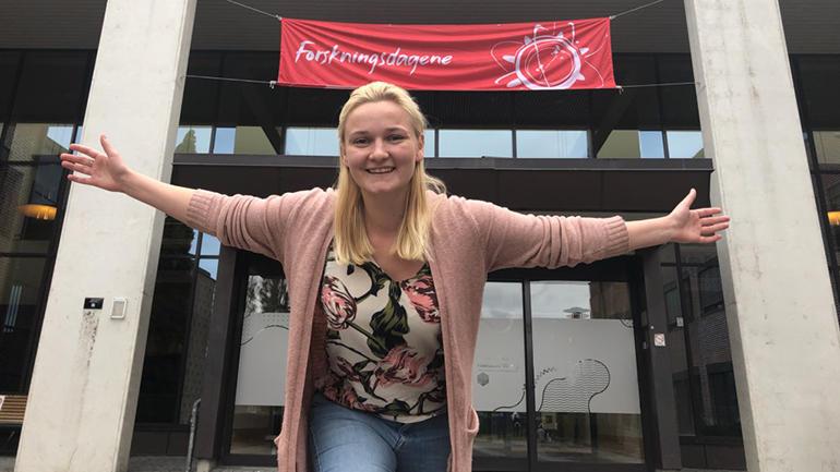 Elisabeth Fleseland på campus Bø. foto.