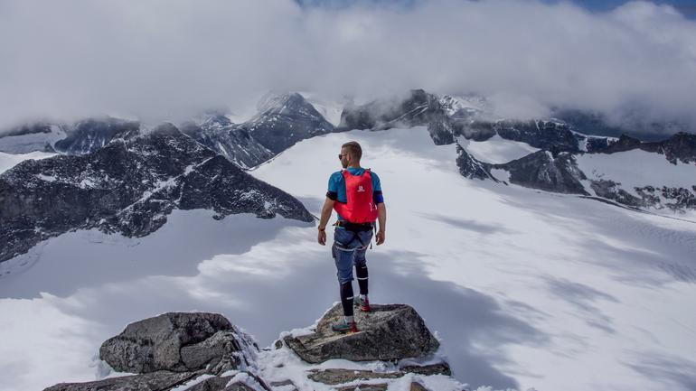 Petr hiking in Norway
