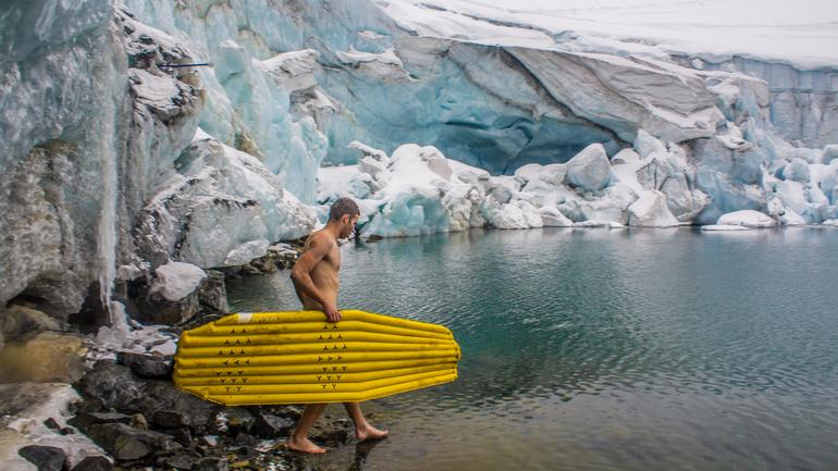 Petr ice bathing