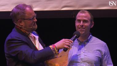 Kim Robert Gustavsen under premieutdelingen for USN Utforsk 2019. foto.