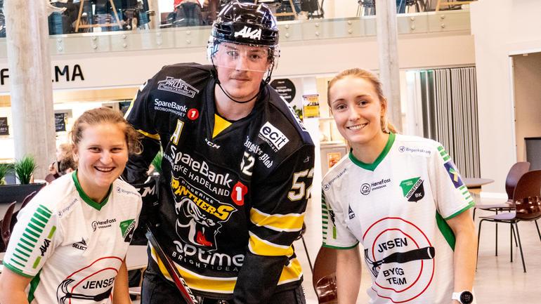F.v: Synne Kristine Hamborg, Dennis Ryttar og Julie Simonsen Solberg.  Foto av dem