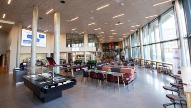 Kafe Alma på studiestad Ringerike. Foto