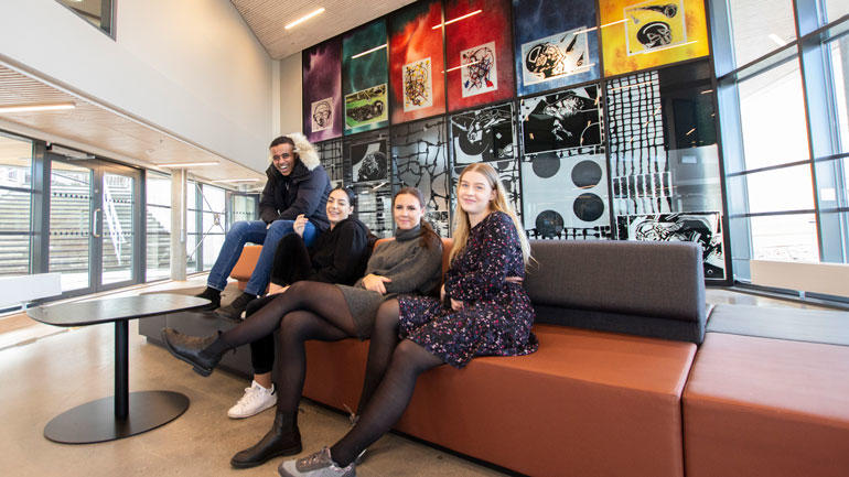 Marcus, Aida, Kjersti og Malin. Foto