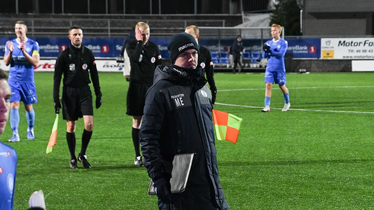 Magnus Erga under kamp med Notodden FK. foto.