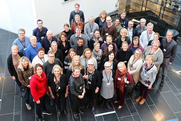 Forskningsgruppen NorVIS på campus Drammen. foto.