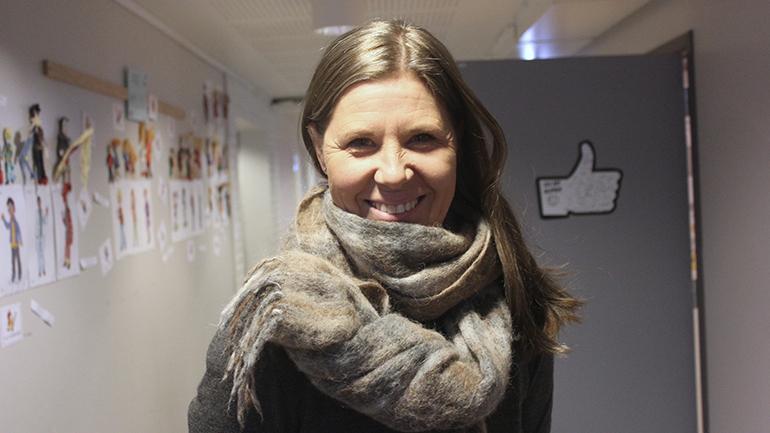 Caroline Skaugen Holmen på Gullaug skole. foto.