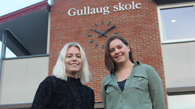 Vanessa Sunnset og Cecilie Bryhn Hansen. foto.