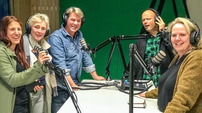 Prosjektgruppe på USN tester ut ministudioet i Vestfold - foto