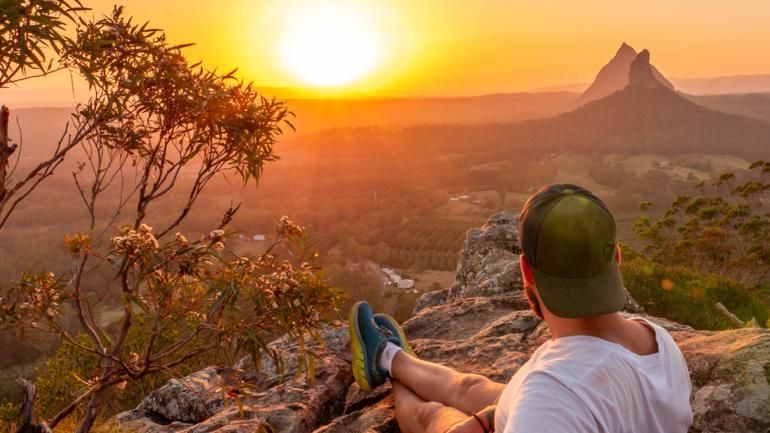 Johannes i solnedgang i Australia