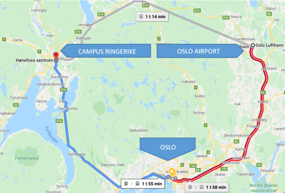 How to get to Campus Ringerike