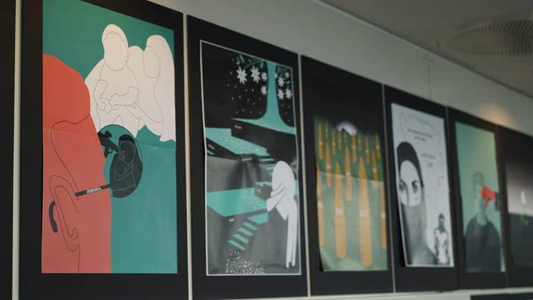 Studentenes bilder fra utstillingen.