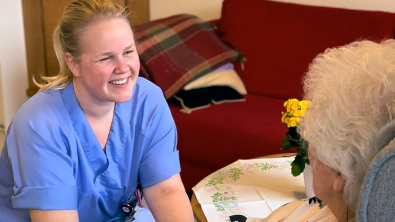 Ragnhild Bjerknes Bærug studerer master innen geriatri