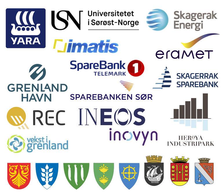 Logoer til alle bedrifter som er med på Birkelandinitiativet.