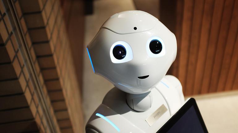 Roboten symboliserer USN som et nyskapende og ærgjerrig Universitet