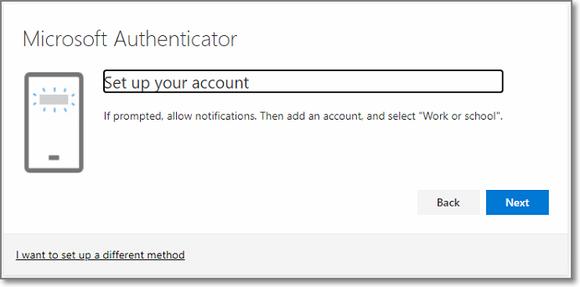 MFA - Add an account in the app