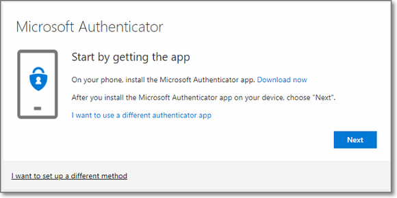 MFA - info about the Microsoft Authenticator app