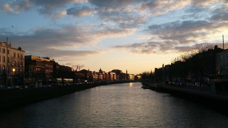 Utsikt over Dublin kanalen