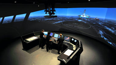 Three students in simulation