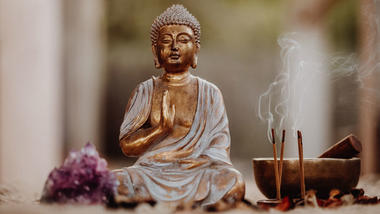 Buddha-figur. Foto