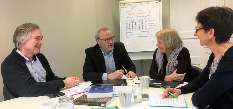 """Social entrepreneurship, from the project """"En u-sving til bedre bolig"""" (""""A u-turn towards better housing""""), where SESAM participated in collaborative social innovation to improve the housing conditions for citizens of Larvik municipality."""