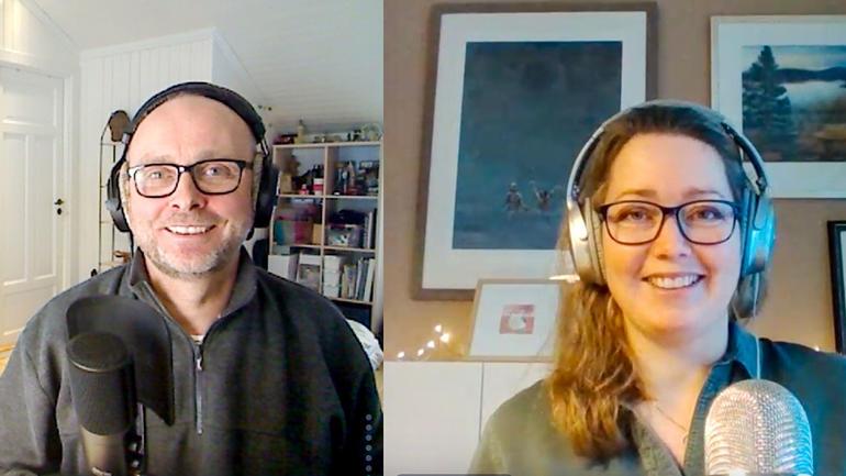 """Jan-Henrik Kulberg og Anne Holm-Nordhagen driver podkasten """"Hva skal jeg bli - og hvordan skal jeg bli det?"""""""
