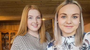 F.v: Ida Kasin og Lene Våle Isaksen vant prisen for beste masteravhandling i økonomi og ledelse på USN Handelshøyskolen i 2020.