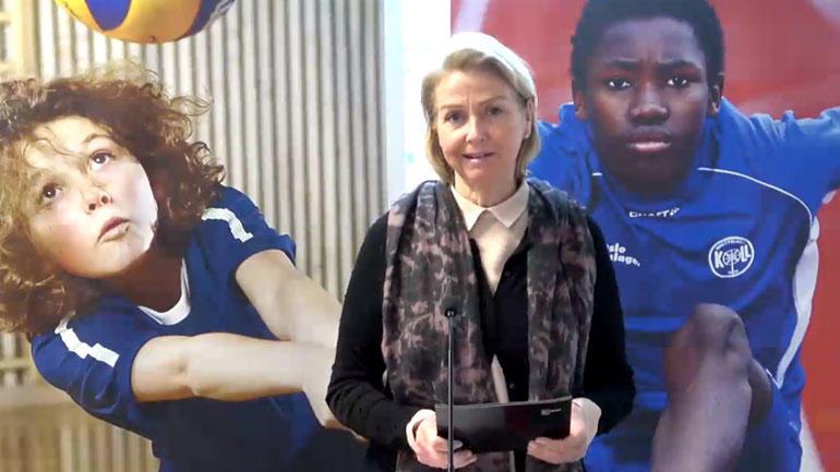 Idrettspresident Berit Kjøll