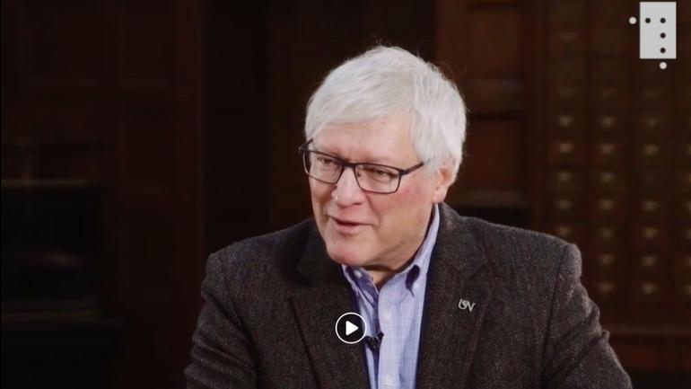 Reformasjonen er et av de store vendepunktene i europeisk historie. Hvilke konsekvenser fikk den for Norden?  Nils Ivar Agøy var gjest i tv-sending med Tore Rem. Skjermdump.