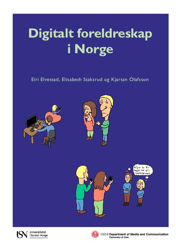 Forside rapport digitalt foreldreskap i Norge