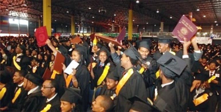 Studenter ved University of Gondar, Etiopia - foto