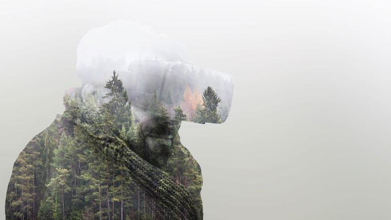 Virtuell natur. Illustrasjon