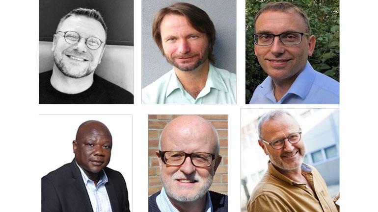 Ottar Ness, Eugene Guribye, Bjørnar Kvinge, Moses D. Kuvoame, Ketil Eide og Lars U. Kobro. Foto