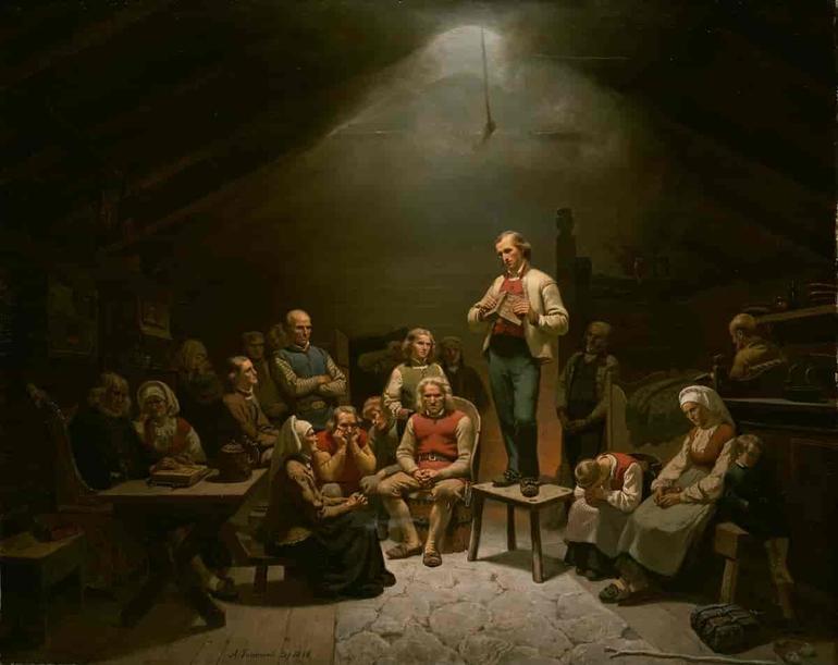 Haugianerne Av Adolph Tidemand, 1848/Nasjonalmuseet.