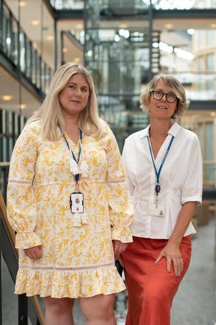 Aslaug Lofthus Larsen (t.v.) og Heidi Helgesen Næss