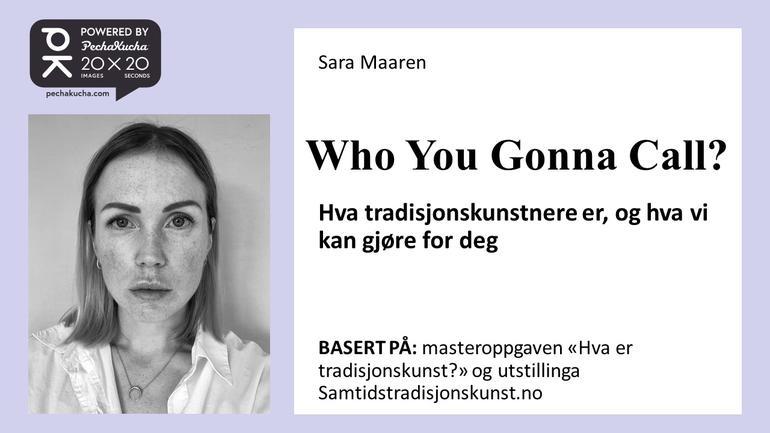 Sara Maaren. Foto