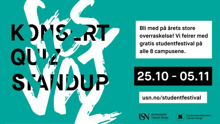 Studentfestval  - plakat