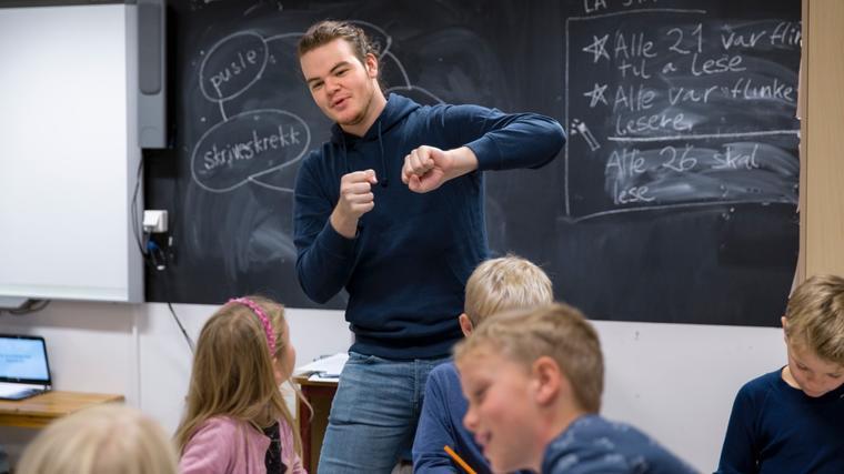 Syver Bråten synes praksis er den beste opplevelsen i lærerutdanningen