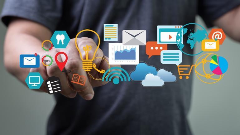 illustrasjon av markedsføring og praksis