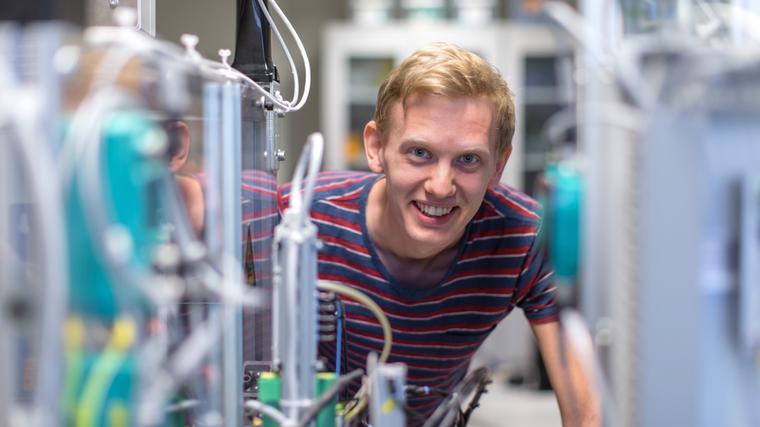 Ingeniørstudent ved USN, campus Porsgrunn