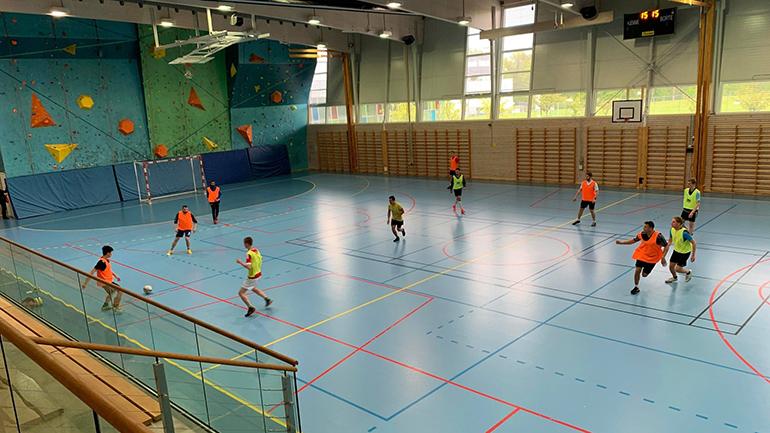 Futsal på USN campus Vestfold med VSIL. foto.