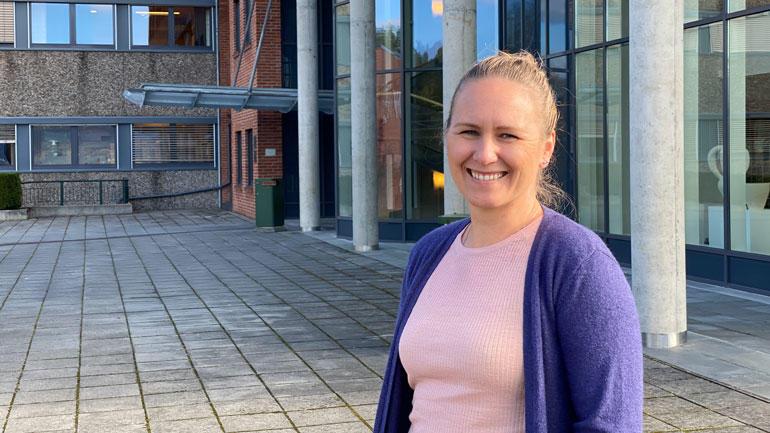 Marte Gurskevik Skeide studerer til å bli lærerspesialist i kunst og håndverk på campus Notodden