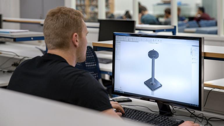 Student på maskiningeniør - produktdesign